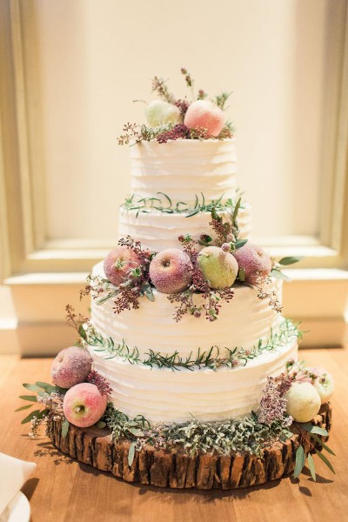35 De Torturi De Nuntă Decorate Cu Fructe și Flori Naturale Nuntă