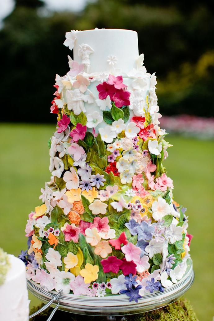 tort colorat cu flori (1)