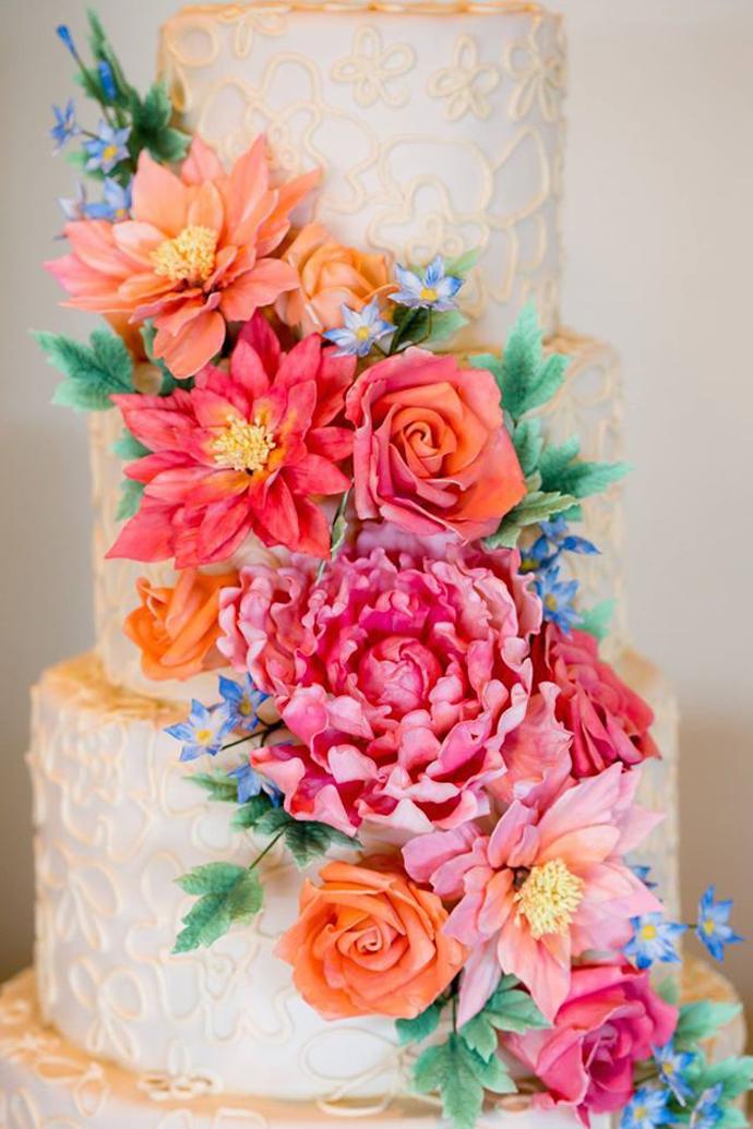 tort colorat cu flori (12)
