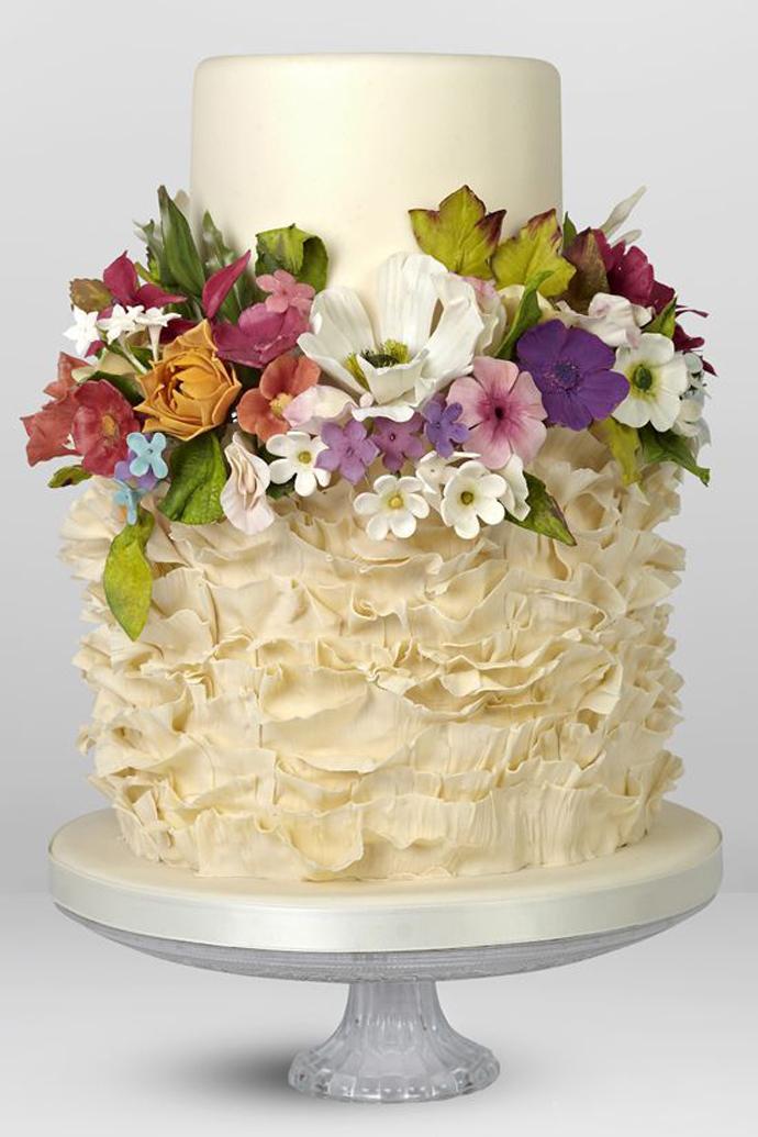 tort colorat cu flori (3)