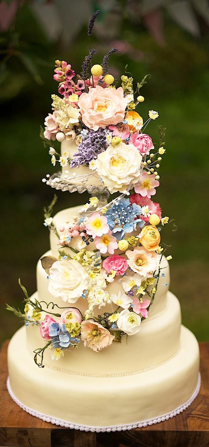 tort colorat cu flori (4)