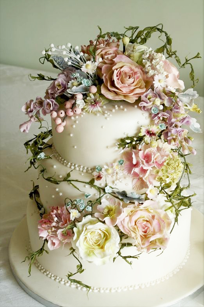 tort colorat cu flori (5)