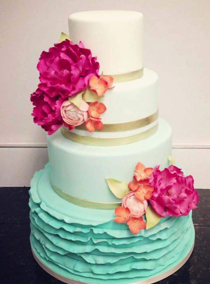 tort colorat cu flori (8)