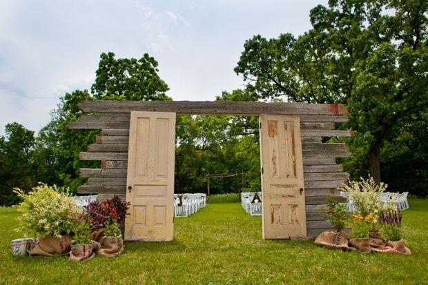 recycled doors- nunta in gradina (15)