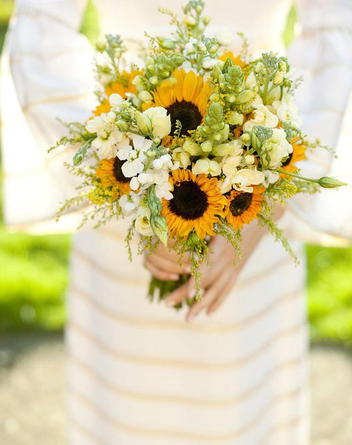 cover floarea soarelui-nunta in gradina