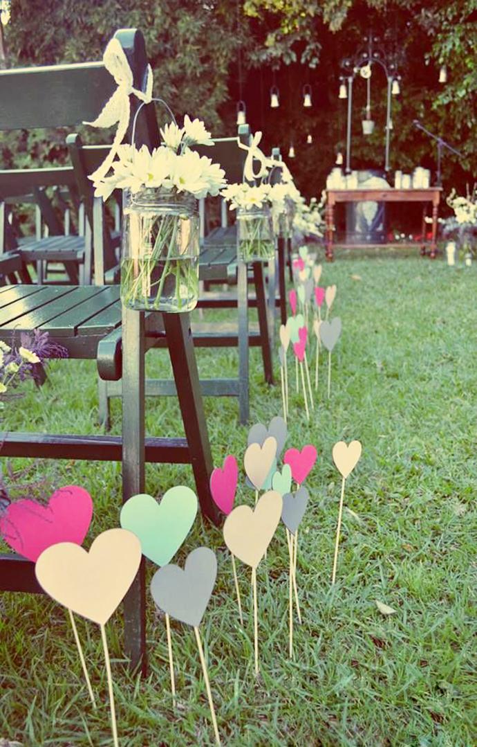inimi de hartie-nunta in gradina (12)