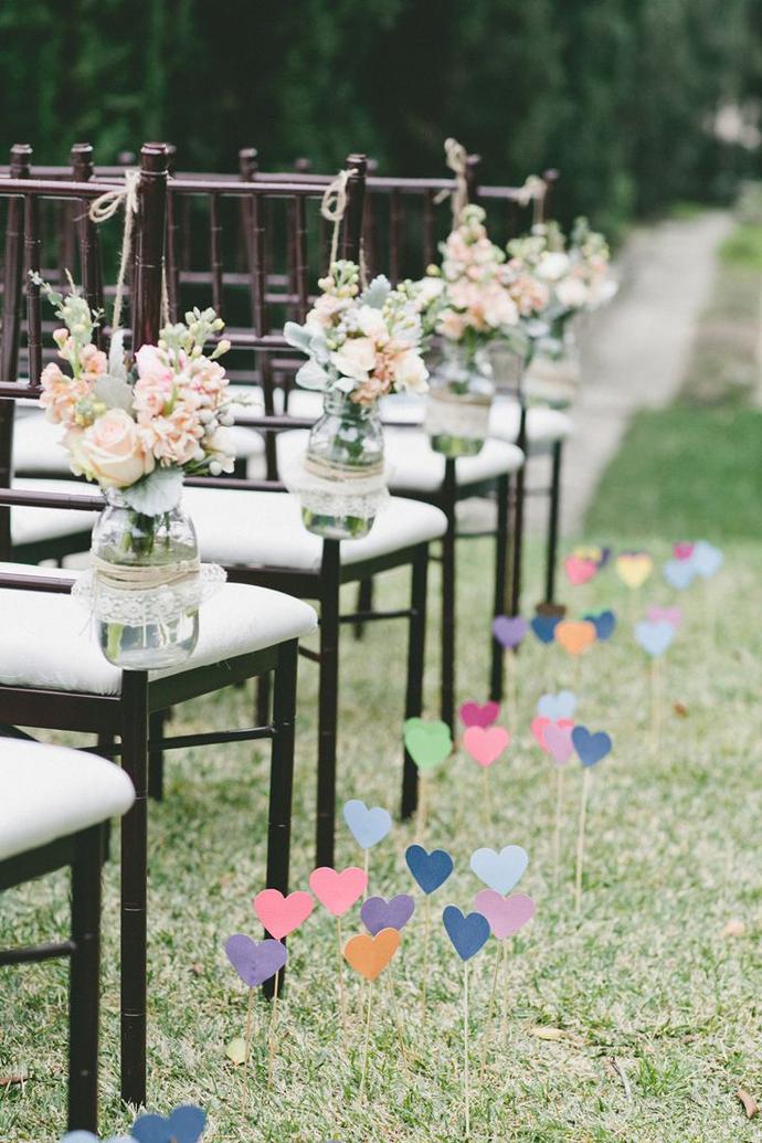 inimi de hartie-nunta in gradina (15)