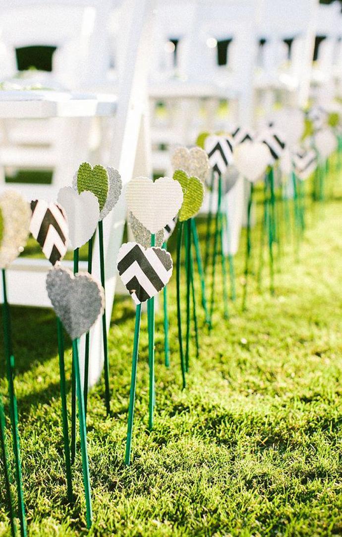inimi de hartie-nunta in gradina (20)