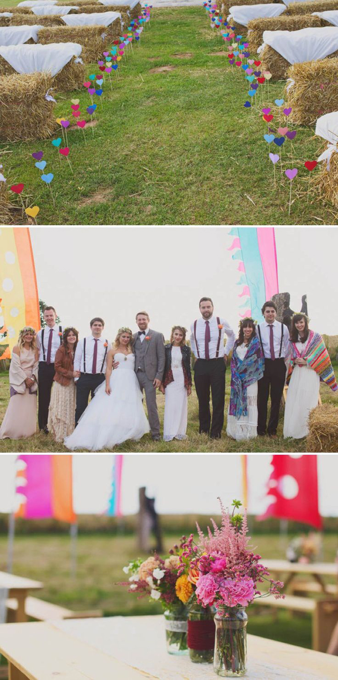 inimi de hartie-nunta in gradina (21)
