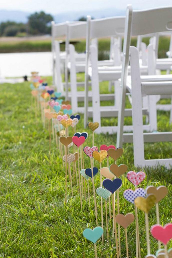 inimi de hartie-nunta in gradina (3)