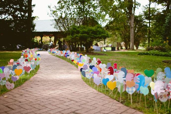 inimi de hartie-nunta in gradina (5)