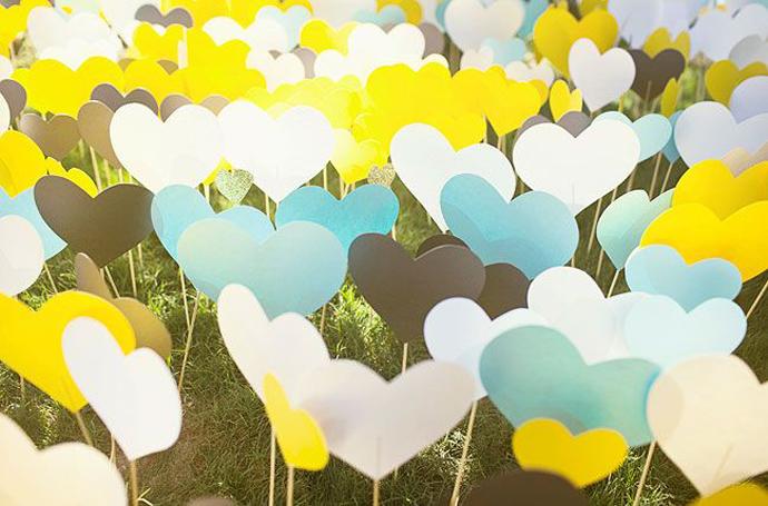 inimi de hartie-nunta in gradina (6)