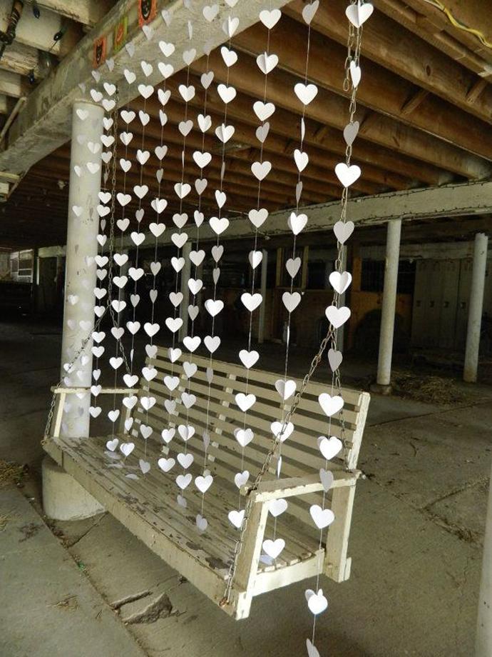 inimi de hartie-nunta in gradina (7)