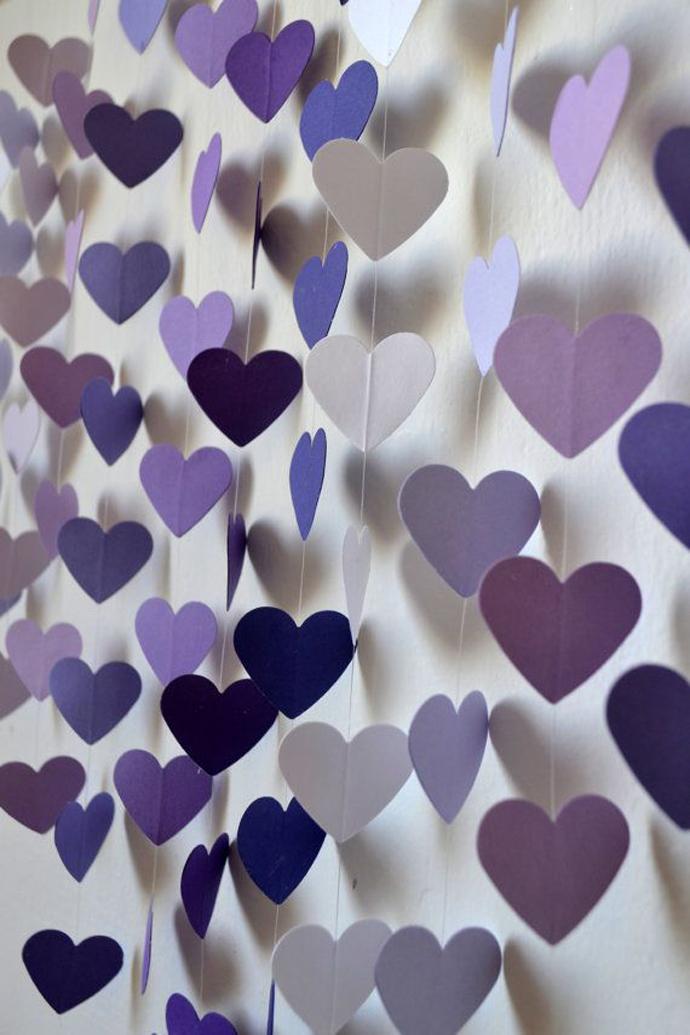 inimi de hartie-nunta in gradina (8)