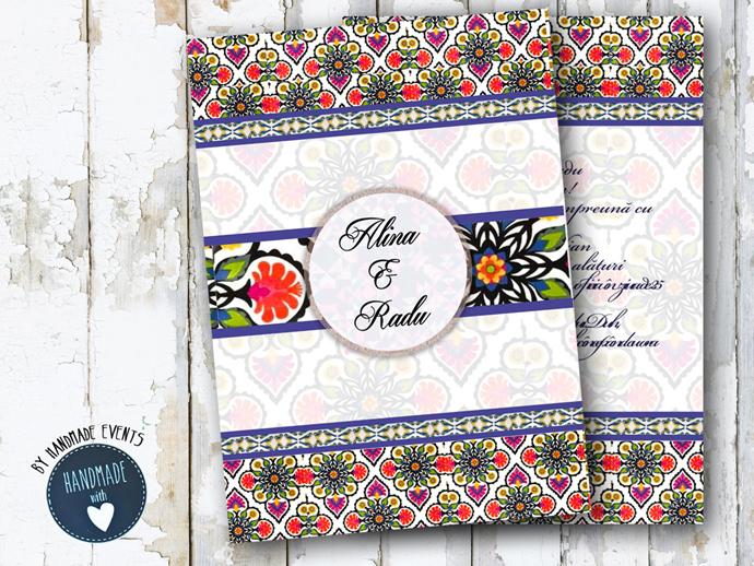 invitatie nunta vintage_ cod 0039