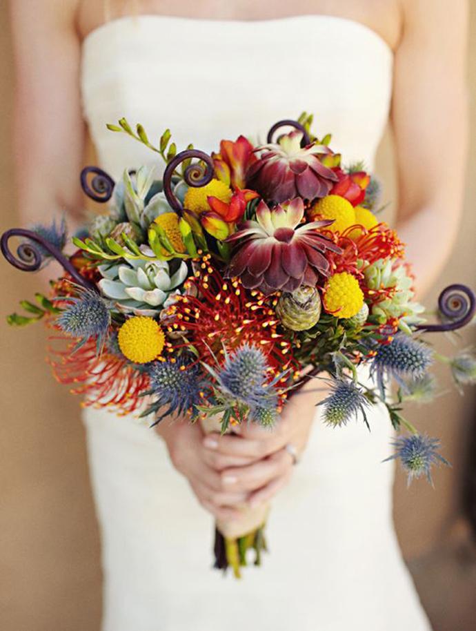 Buchete De Toamnă Pline De Culoare Nuntă în Grădină