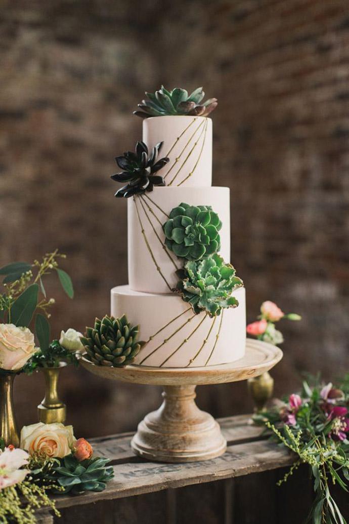 tort plante suculente-nunta in gradina (5)