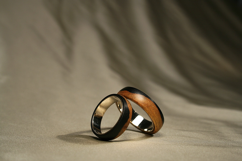 Black and White - wedding rings
