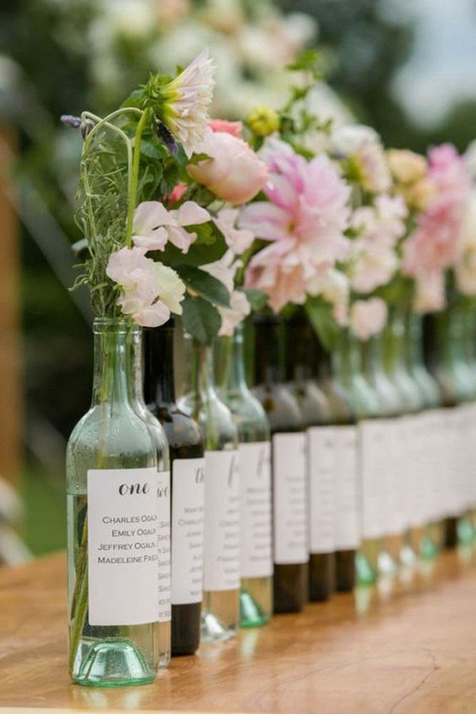 sticla vin numar de masa nunta in gradina (2)