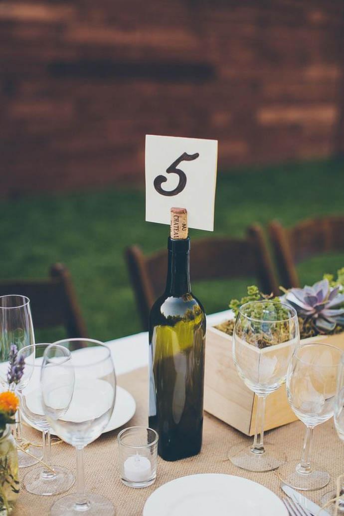 sticla vin numar de masa nunta in gradina (5)