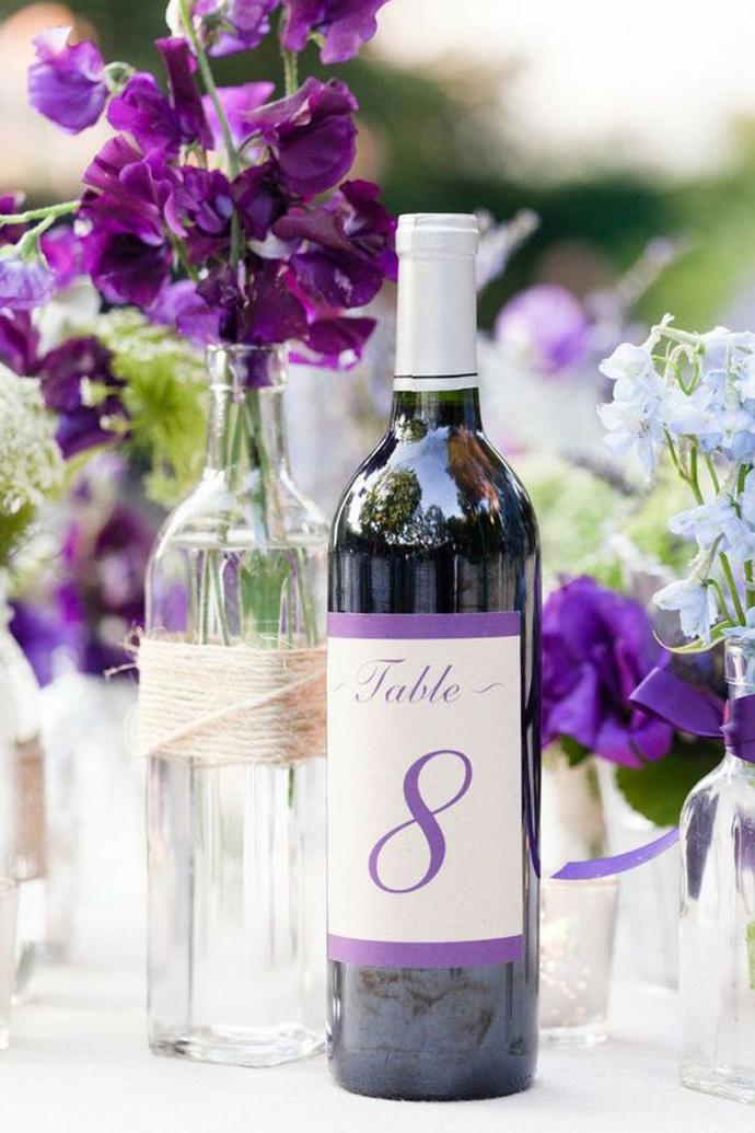 sticla vin numar de masa nunta in gradina (7)
